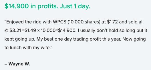Top Stock Picks Testimonial