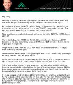 Top Stock Picks Trade Alert