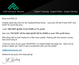 Top Stock Picks DWT Sell Alert
