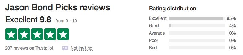 TrustPilot Jason Bond Picks Reviews