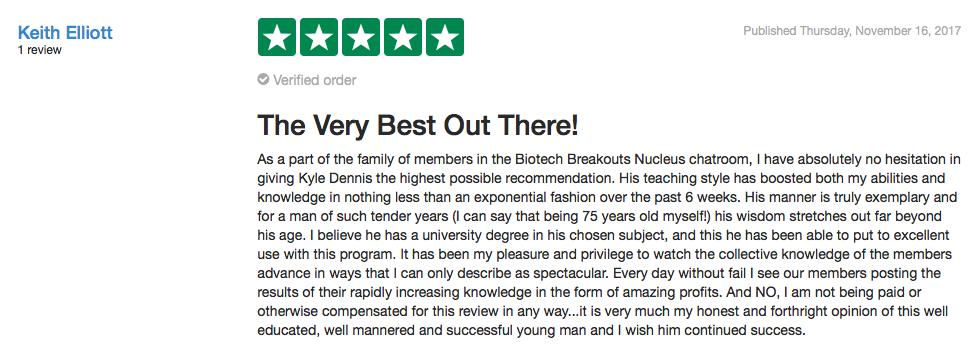 Biotech Nucleus Testimonial
