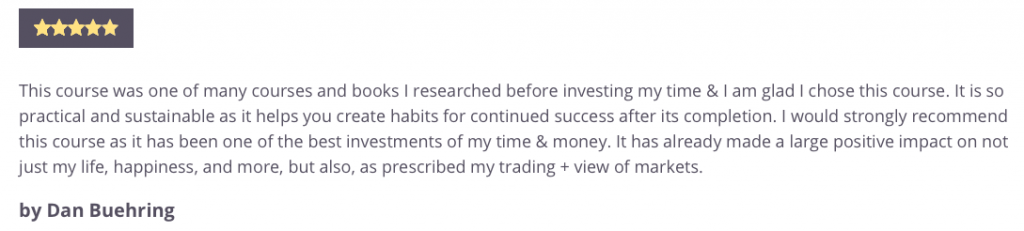 Trading Psychology Mastery Course Testimonial