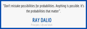 Ray Dalio Possibilities and Probabilities Quote