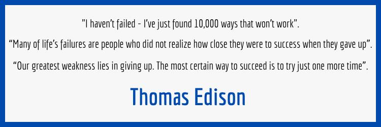 Thomas Edison Failure Quotes