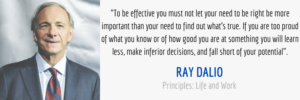 effective principles quote from Ray Dalio