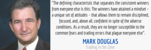 trading mindset quote from trading in the zone by mark douglas