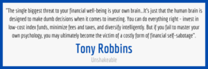 Financial Self-Sabotage Quote From Unshakeable By Tony Robbins