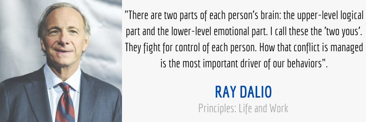 Ray Dalio mindfulness quote from Principles