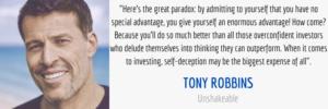 Tony Robbins Investing Self-Deception Quote
