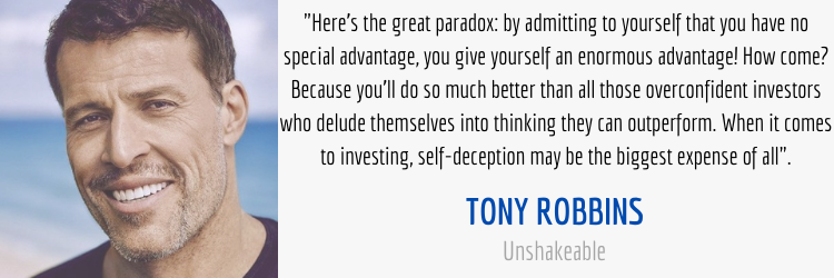 Tony Robbins Investing Self-Deception Quote