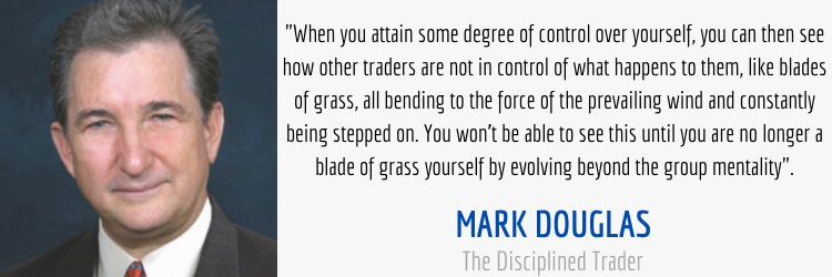 trading mentality quote from the disciplined trader by mark douglas