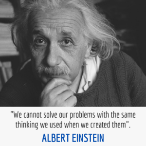 Albert Einstein problems and thinking quote