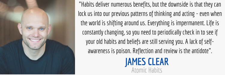 Self Awareness and Habits Quote From Atomic Habits By James Clear