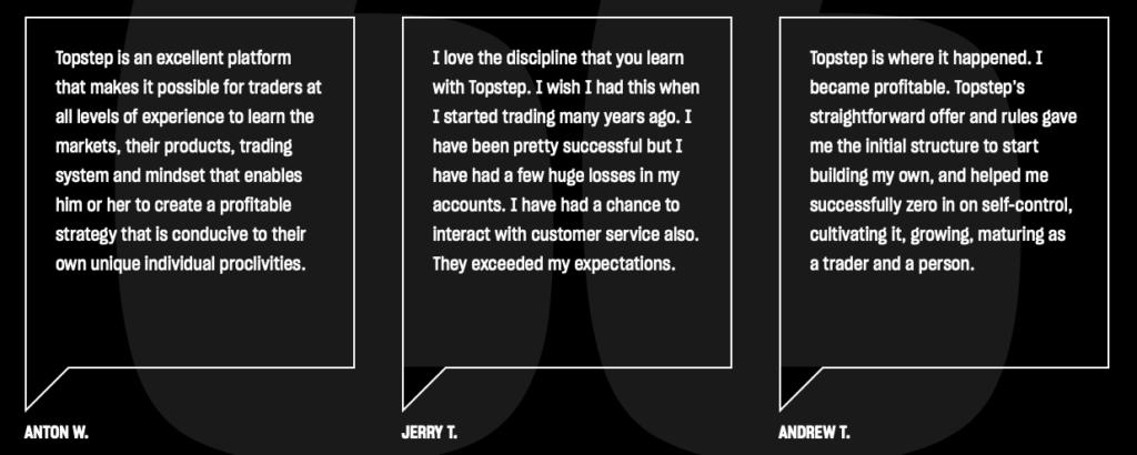 Topstep Trader User Reviews and Testimonials